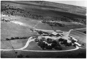 Primary view of object titled '[Southern Aerial View of Matthews Ranch Headquarters]'.