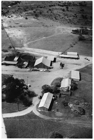 Primary view of object titled '[Aerial View of Matthews Ranch Headquarters]'.