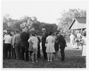 Primary view of object titled '[People Standing in a Line]'.