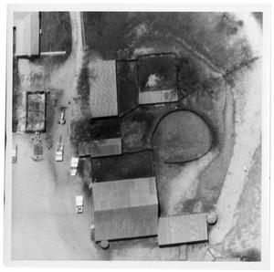 Primary view of object titled '[Aerial View of Ranch Buildings]'.