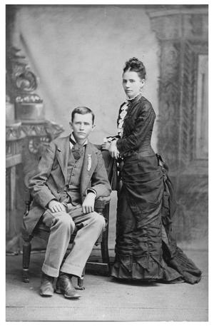 Primary view of object titled '[Portrait of George and Bettie Reynolds]'.