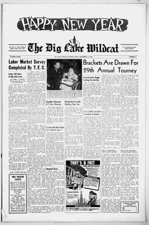 Primary view of object titled 'The Big Lake Wildcat (Big Lake, Tex.), Vol. 34, No. 52, Ed. 1 Thursday, December 31, 1959'.