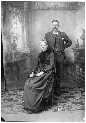 Primary view of object titled '[Portrait of Nathan L. and Susan Bartholomew]'.