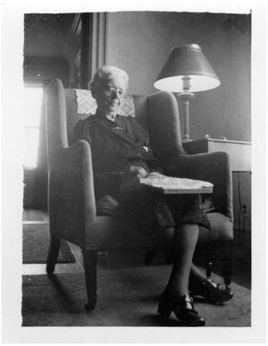 Primary view of object titled '[Sallie Reynolds Matthews in a Chair]'.