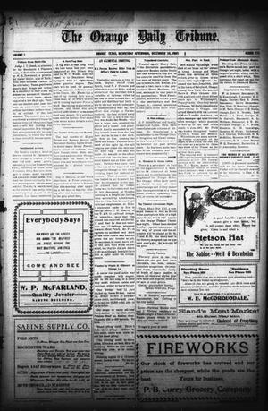 Primary view of object titled 'The Orange Daily Tribune. (Orange, Tex.), Vol. 5, No. 135, Ed. 1 Wednesday, December 20, 1905'.