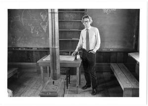 Primary view of object titled '[Richard Avedon in the Reynolds Bend Schoolhouse]'.