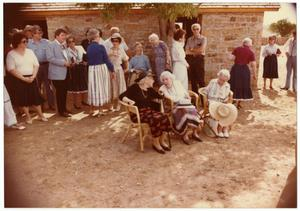 Primary view of object titled '[Group of People outside of a Ranch House]'.