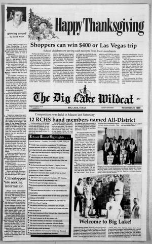 Primary view of object titled 'The Big Lake Wildcat (Big Lake, Tex.), Vol. SIXTY-FOURTH YEAR, No. 47, Ed. 1 Wednesday, November 22, 1989'.