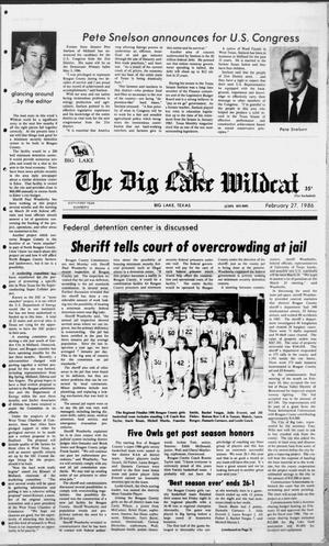 Primary view of object titled 'The Big Lake Wildcat (Big Lake, Tex.), Vol. SIXTY-FIRST YEAR, No. 9, Ed. 1 Thursday, February 27, 1986'.