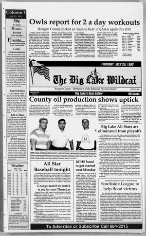 Primary view of object titled 'The Big Lake Wildcat (Big Lake, Tex.), Vol. 68, No. 30, Ed. 1 Thursday, July 29, 1993'.