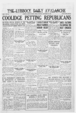 Primary view of object titled 'The Lubbock Daily Avalanche (Lubbock, Texas), Vol. 1, No. 279, Ed. 1 Thursday, September 20, 1923'.