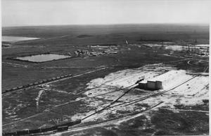 Primary view of object titled '[Aerial view of sulfur mine at Orchard, Texas.]'.