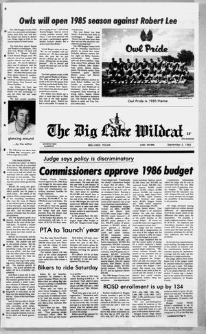 Primary view of object titled 'The Big Lake Wildcat (Big Lake, Tex.), Vol. 60, No. 37, Ed. 1 Thursday, September 5, 1985'.