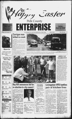 Primary view of object titled 'Polk County Enterprise (Livingston, Tex.), Vol. 126, No. 25, Ed. 1 Sunday, March 23, 2008'.