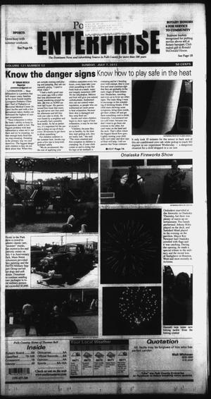 Primary view of object titled 'Polk County Enterprise (Livingston, Tex.), Vol. 131, No. 54, Ed. 1 Sunday, July 7, 2013'.