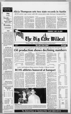 Primary view of object titled 'The Big Lake Wildcat (Big Lake, Tex.), Vol. 69, No. 20, Ed. 1 Thursday, May 19, 1994'.