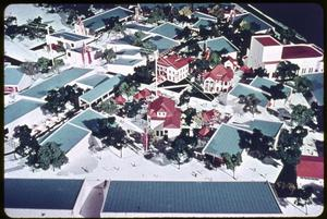 Primary view of object titled 'Model- Overall buildings at HemisFair '68'.