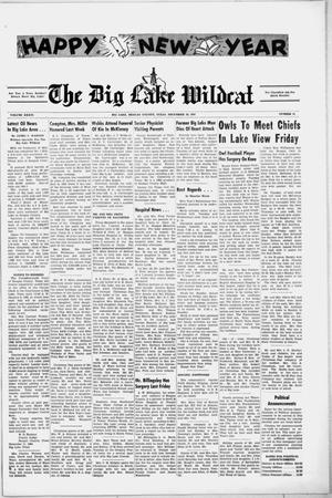 Primary view of object titled 'The Big Lake Wildcat (Big Lake, Tex.), Vol. 36, No. 52, Ed. 1 Thursday, December 28, 1961'.