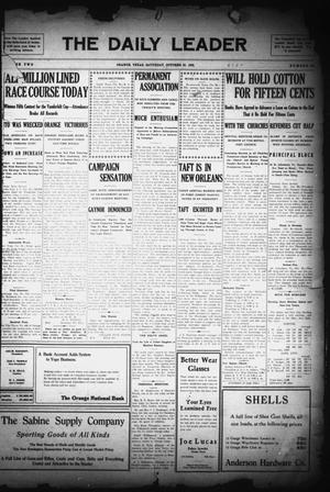 Primary view of object titled 'The Daily Leader (Orange, Tex.), Vol. 2, No. 211, Ed. 1 Saturday, October 30, 1909'.