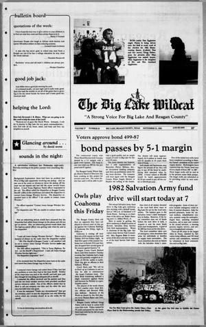 Primary view of object titled 'The Big Lake Wildcat (Big Lake, Tex.), Vol. 57, No. 38, Ed. 1 Thursday, September 23, 1982'.