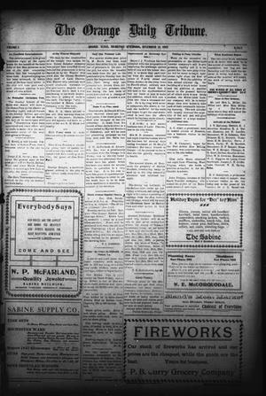 Primary view of object titled 'The Orange Daily Tribune. (Orange, Tex.), Vol. 5, No. 136, Ed. 1 Thursday, December 21, 1905'.