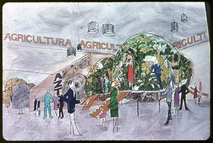 Primary view of object titled 'The Agriculture Pavilion at HemisFair '68'.