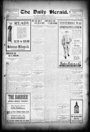 Primary view of The Daily Herald. (Weatherford, Tex.), Vol. 13, No. 39, Ed. 1 Wednesday, February 28, 1912
