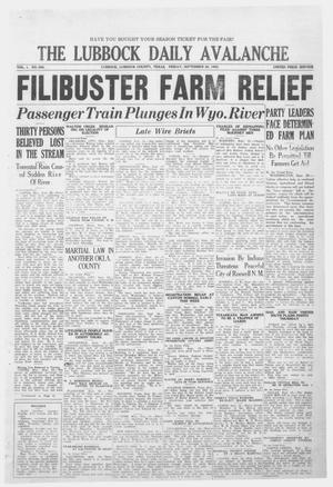 Primary view of object titled 'The Lubbock Daily Avalanche (Lubbock, Texas), Vol. 1, No. 286, Ed. 1 Friday, September 28, 1923'.