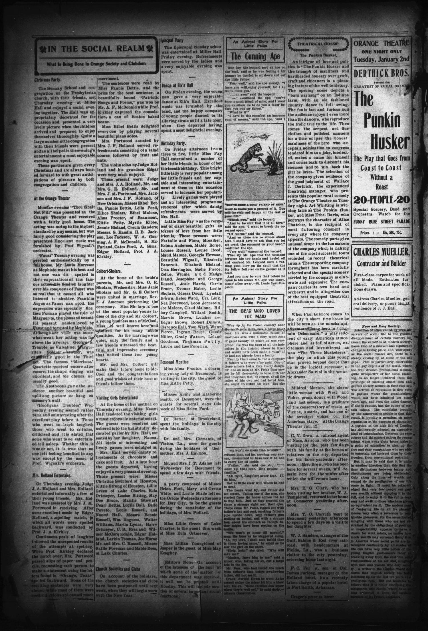 The Orange Daily Tribune. (Orange, Tex.), Vol. 5, No. 343, Ed. 1 Saturday, December 30, 1905                                                                                                      [Sequence #]: 4 of 4