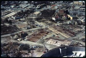 Primary view of object titled 'Aerial view of the HemisFair construction site'.