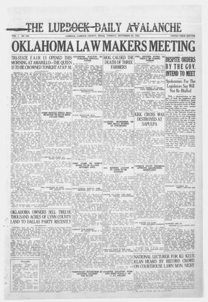 Primary view of object titled 'The Lubbock Daily Avalanche (Lubbock, Texas), Vol. 1, No. 283, Ed. 1 Tuesday, September 25, 1923'.