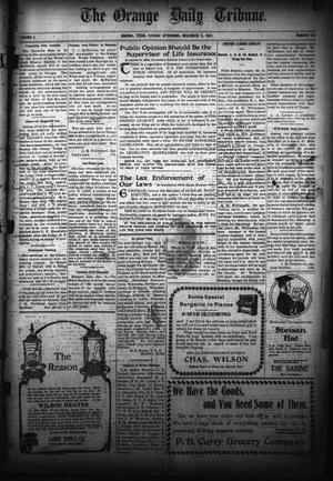 Primary view of object titled 'The Orange Daily Tribune. (Orange, Tex.), Vol. 5, No. 123, Ed. 1 Tuesday, December 5, 1905'.