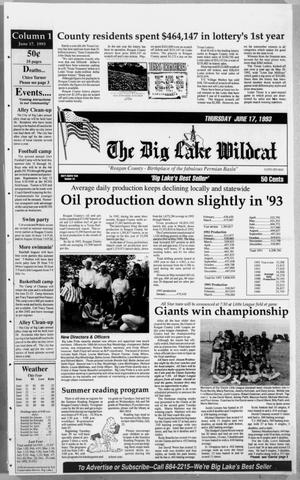 Primary view of object titled 'The Big Lake Wildcat (Big Lake, Tex.), Vol. 68, No. 24, Ed. 1 Thursday, June 17, 1993'.