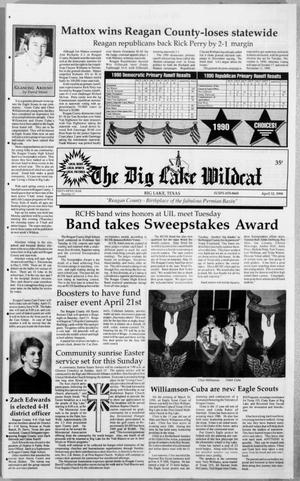 Primary view of object titled 'The Big Lake Wildcat (Big Lake, Tex.), Vol. SIXTY-FIFTH YEAR, No. 15, Ed. 1 Thursday, April 12, 1990'.
