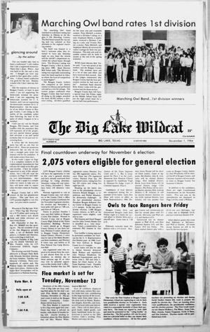 Primary view of object titled 'The Big Lake Wildcat (Big Lake, Tex.), Vol. 59, No. 45, Ed. 1 Thursday, November 1, 1984'.