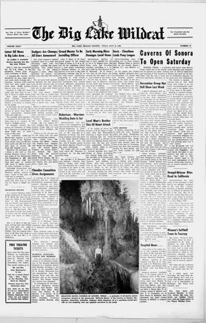 Primary view of object titled 'The Big Lake Wildcat (Big Lake, Tex.), Vol. 35, No. 28, Ed. 1 Thursday, July 14, 1960'.