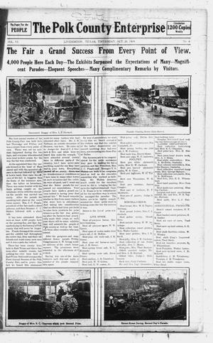 Primary view of object titled 'The Polk County Enterprise (Livingston, Tex.), Vol. 6, No. 6, Ed. 1 Thursday, October 28, 1909'.
