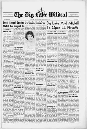 Primary view of object titled 'The Big Lake Wildcat (Big Lake, Tex.), Vol. 37, No. 29, Ed. 1 Thursday, July 19, 1962'.