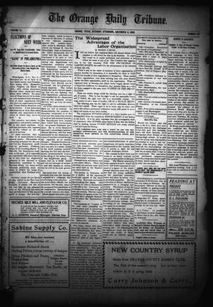 Primary view of object titled 'The Orange Daily Tribune. (Orange, Tex.), Vol. 5, No. 98, Ed. 1 Saturday, November 4, 1905'.