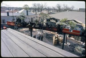 Primary view of object titled 'Monorail Car Fire at HemisFair '68'.