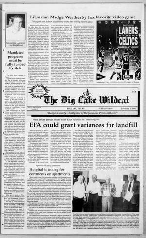 Primary view of object titled 'The Big Lake Wildcat (Big Lake, Tex.), Vol. SIXTY-FIFTH YEAR, No. 5, Ed. 1 Thursday, February 1, 1990'.
