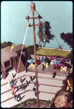 Primary view of object titled 'Model - Los Voladores - Flying Indians of Mexico at HemisFair '68'.