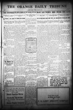 Primary view of object titled 'The Orange Daily Tribune (Orange, Tex.), Vol. 7, No. 166, Ed. 1 Monday, August 19, 1907'.