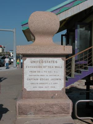 Primary view of object titled 'Seawall marker, Galveston'.