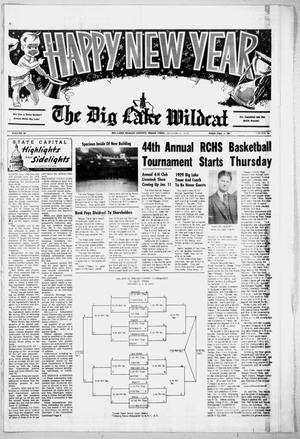 Primary view of object titled 'The Big Lake Wildcat (Big Lake, Tex.), Vol. 49, No. 53, Ed. 1 Tuesday, December 31, 1974'.