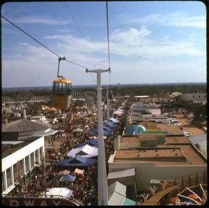 Primary view of object titled 'Aerial view of the Amusement Park section at HemisFair '68'.