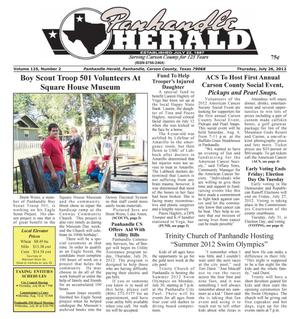 Primary view of object titled 'Panhandle Herald (Panhandle, Tex.), Vol. 125, No. 02, Ed. 1 Thursday, July 26, 2012'.