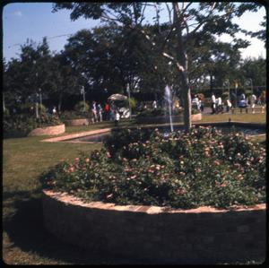Primary view of object titled 'Open area walk fountain at park'.