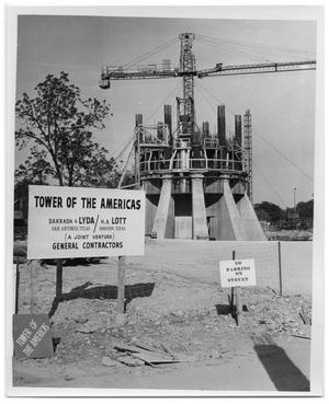 Tower Of The Americas Construction The Portal To Texas