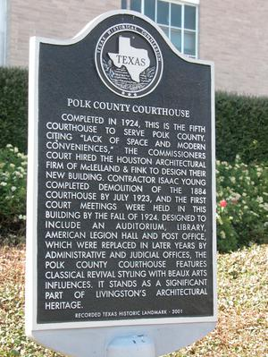 Primary view of object titled 'Historic Plaque, Polk County Courthouse'.